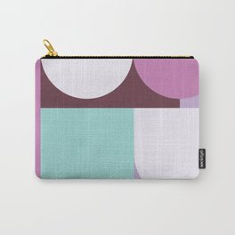 Geometric Circle and block Pattern Carry-All Pouch