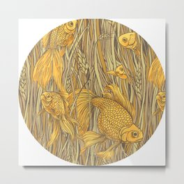 Goldfishes in the Rye Metal Print