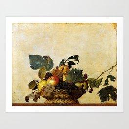 "Michelangelo Merisi da Caravaggio ""Basket of Fruit"" Art Print"