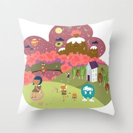 The Downs Throw Pillow