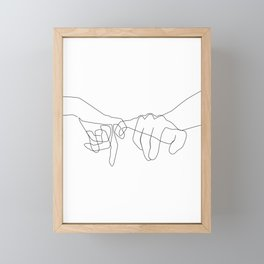 Pinky Swear II Framed Mini Art Print