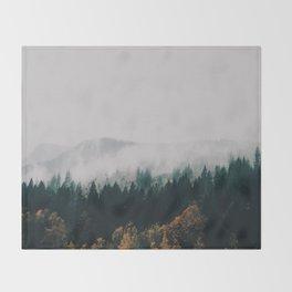 Forest Fog Throw Blanket