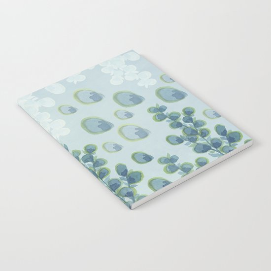 Painted floral Pattern 01 Notebook