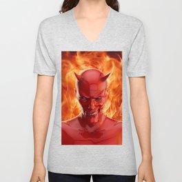The devil Unisex V-Neck
