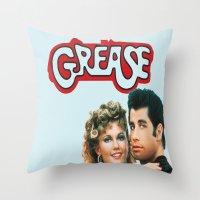grease Throw Pillows featuring Grease  by Dora Birgis