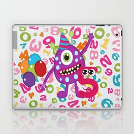 Birthday Monsters 5th Birthday Laptop & iPad Skin