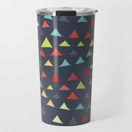 mod multi colored triangles Travel Mug
