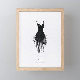 Little Black Fringe Dress Framed Mini Art Print