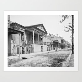 Chartres Street, Vieux Carre, New Orleans, Louisiana 1906 Art Print