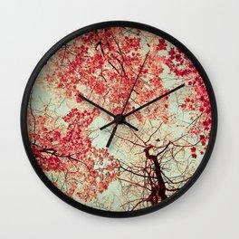 Autumn Inkblot Wall Clock