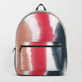 Vintage Watercolor Stripes Backpack