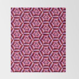 Psychedelic Wine Seamless Pattern Throw Blanket