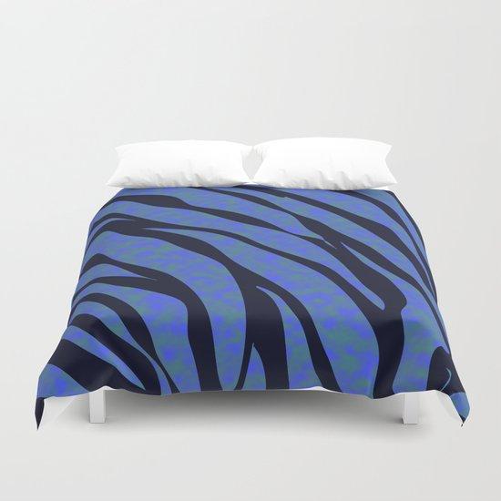 Blue ocean zebra  Duvet Cover