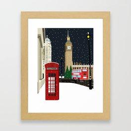 London Westminster in the Snow Framed Art Print