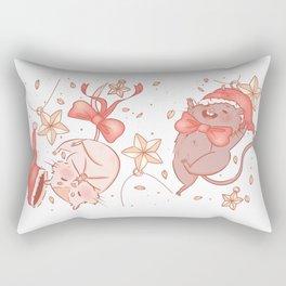 Holiday Gerbils Rectangular Pillow