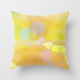 gold clouds and bubbles Throw Pillow