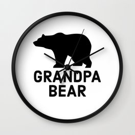 Grandpa Bear Wall Clock