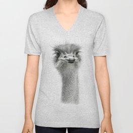 Cute Ostrich Expression SK055 Unisex V-Neck