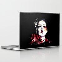 subaru Laptop & iPad Skins featuring Japanese Creepy Geisha by viva la revolucion