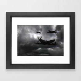 Spitfire Night Fighter Framed Art Print