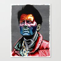 marty mcfly Canvas Prints featuring Marty Mcfly by Cartyisme