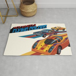 Vintage 1974 Hot Wheels Flying Colors Redline Vintage Poster Rug