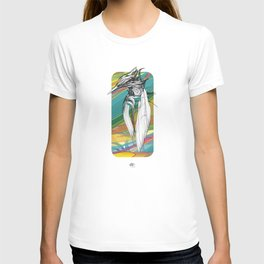 Kingfisher 1h2. Crazy Colors - (Red eyes series) T-shirt