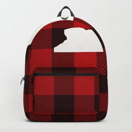 New York is Home - Buffalo Check Plaid Backpack