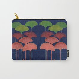 Ginkgo Leaf gouache painting design art print Carry-All Pouch
