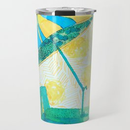 Yellow strips Travel Mug