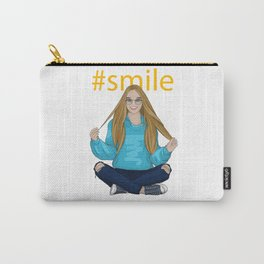 #smile Carry-All Pouch