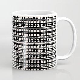 Abstract Net - Black & Cream Coffee Mug