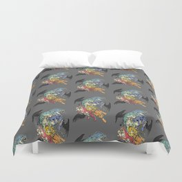 Seven Caged Tigers Duvet Cover