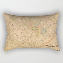 Civil War Washington D.C. Map Rectangular Pillow