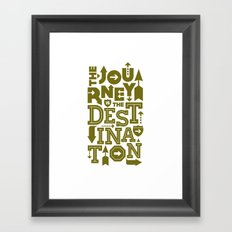 Army Green Journey Quote Framed Art Print