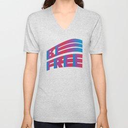 Be Free (Gradient Typography design) Unisex V-Neck