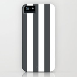 Grey and white stripes iPhone Case