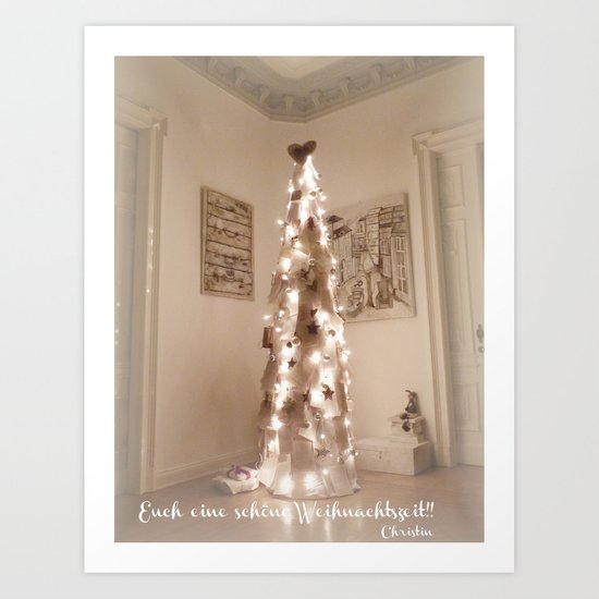 Merry Christmas  at all Art Print