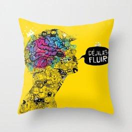 Déjalas Fluir  Throw Pillow