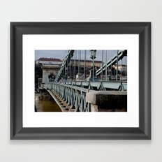 Széchenyi Chain Bridge Framed Art Print