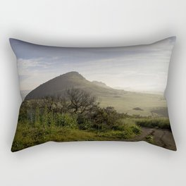 Foggy Horizon Rectangular Pillow