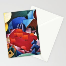 Lake, Forest, and Alpine Orchard Landscape by Jean Metzinger Stationery Cards