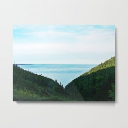 Seaside Mountain Crevasse Metal Print