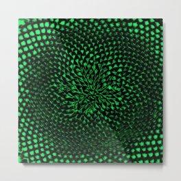 Green Sunflower Portrait by Jéanpaul Ferro Metal Print