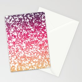 Terrazzo in pink, purple and yellow colors Stationery Cards