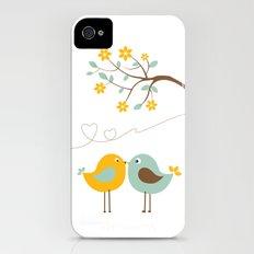 Love birds Slim Case iPhone (4, 4s)
