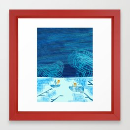Of Boats And Sky Framed Art Print