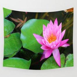 Pink lotus Wall Tapestry