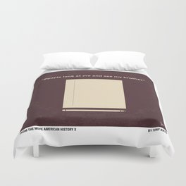 No247 My AMERICAN HISTORY X minimal movie poster Duvet Cover