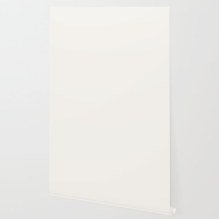 Creamy Off White Solid Color Pairs with Farrow and Ball All White 2005 - Accent to Arsenic 214 Wallpaper
